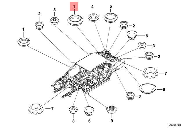 Genuine Blind Plug x5 pcs BMW MINI ROLLS-ROYCE Alpina