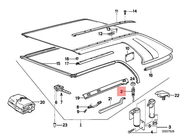 Genuine BMW E30 Cabrio Left Center Console Armrest Lock