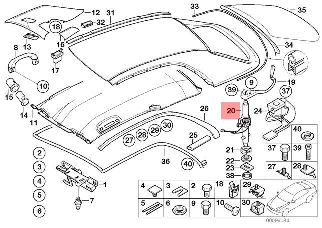 Genuine BMW E46 Convertible Left Center Console Armrest