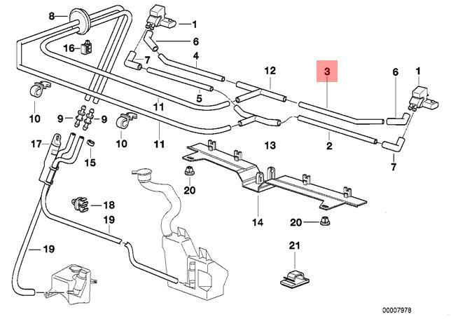 Original BMW E38 Scheinwerferreinigungsanlage