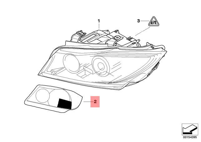 Genuine Set masking foil for headlamp Xenon BMW E90 E91