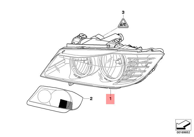 Genuine Headlight Left BMW E90 E91 316d 316i 318d 318i