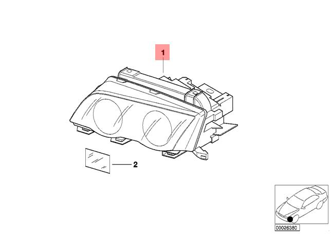 Genuine BMW E46 Sedan Wagon Headlight Xenon Right OEM