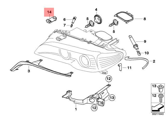 Genuine BMW E46 Cabrio Coupe Repair Kit Headlight OEM