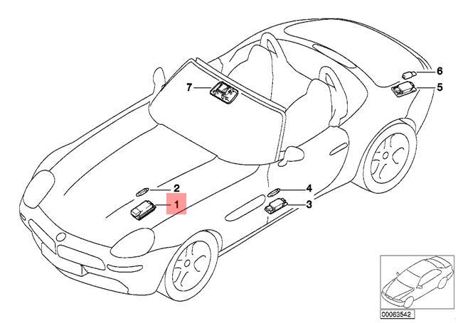 Genuine ENGINE COMPARTMENT LIGHT BMW Alpina M5 Z3 Z8 V8