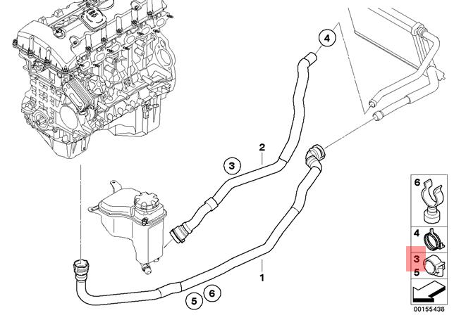 Genuine BMW E81 E82 E84 Radiator Cooling Hose Clamp x10