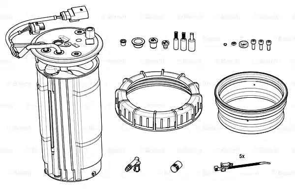 BOSCH Tank Unit Heating Fits MERCEDES W164 W166 1664710775
