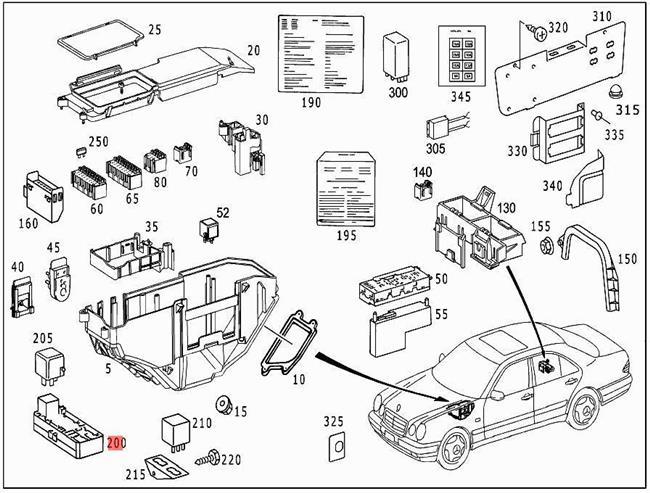 Genuine Relay Unit MERCEDES S202 S210 W202 W210 Sedan