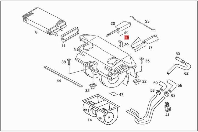 Genuine Clip MERCEDES 190 Sl Sprinter 903 A208 C107 C123