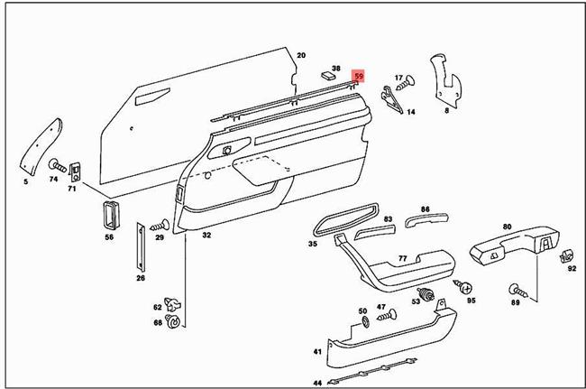 Genuine Garnish Moulding MERCEDES R107 W107 Cabrio
