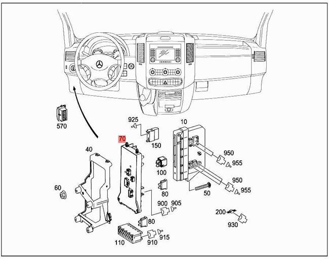 Genuine Fuse- A. Relaybox MERCEDES Sprinter 906 W906 Box