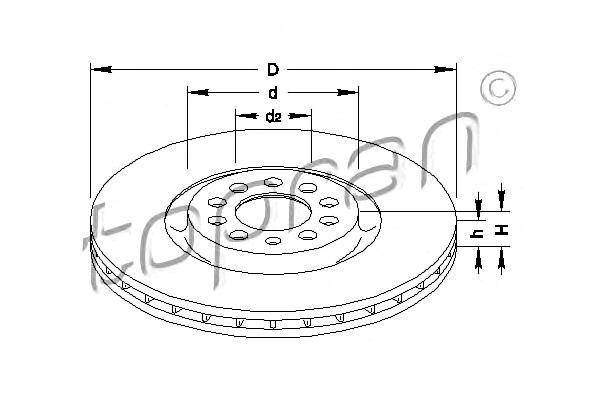 Front Axle Brake Disc 2pcs Fits AUDI A3 TT SEAT SKODA