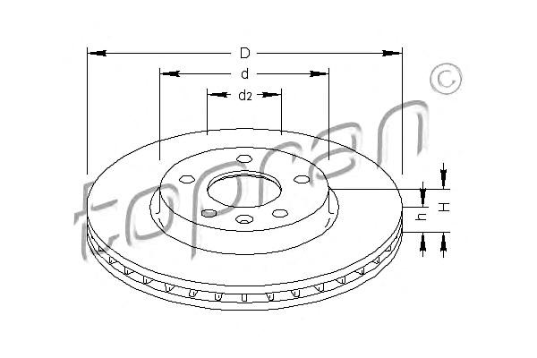 Brake Disc x2 SET Fits OPEL Astra Zafira Hatchback MPV