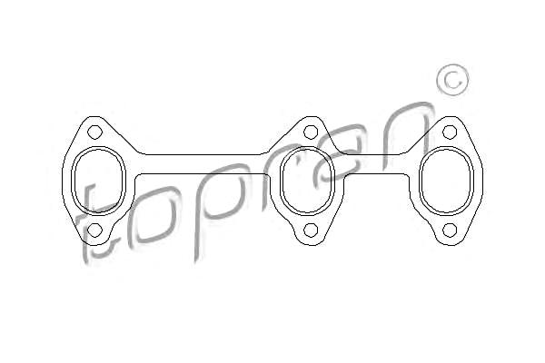 Seal Gasket for exhaust manifold Fits AUDI 100 Avant 80 A4