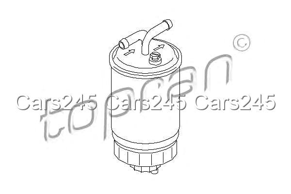 Inline Fuel Filter Fits FORD Escort IV Courier VW Jetta Lt