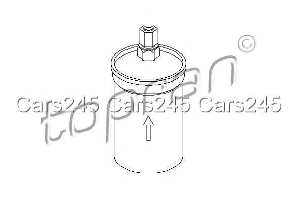 Inline Fuel Filter Fits AUDI 4000 100 VW Jetta II Passat