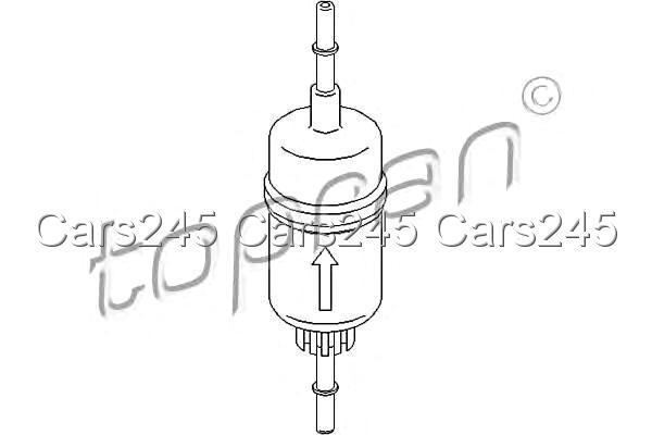 Inline Fuel Filter Fits FORD Ikon V Fiesta Fusion 1.25-2L