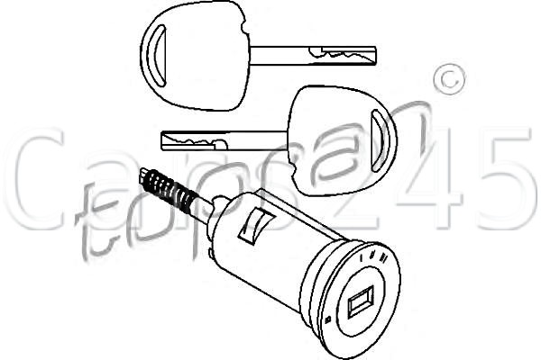 Ignition Lock Cylinder with Key Fits Opel Vectra A Omega B