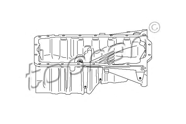 Oil Pan Sump Fits AUDI A4 SKODA Superb VW Passat Variant 1