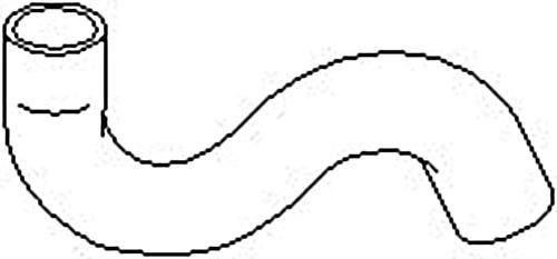 Radiator Coolant Hose Upper Fits CITROEN Xsara Wagon