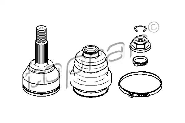 TP Front Wheel Side Drive Shaft CV Joint Kit Fits FORD