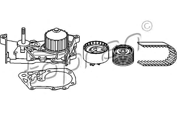TP Water Pump + Timing Belt Kit Fits DACIA Logan RENAULT