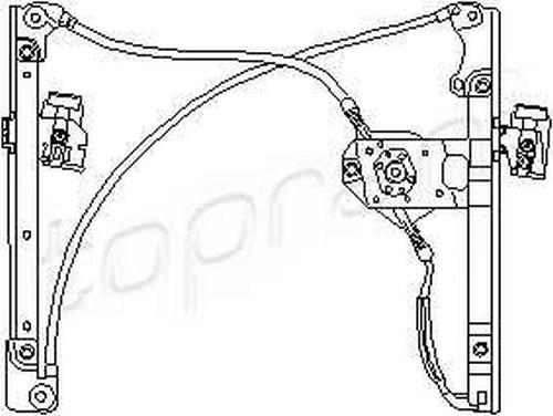 Manual Window Regulator LEFT FRONT 2/4DR Fits VW Golf Mk3