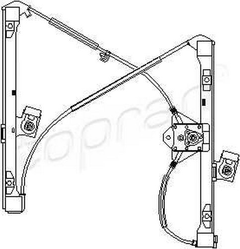 Manual Window Regulator LEFT FRONT 4DR Fits SEAT VW Caddy