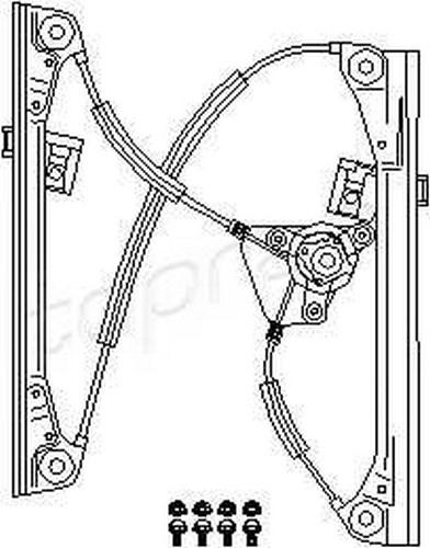 Manual Window Regulator Repair Kit LEFT FRONT 4DR Fits VW