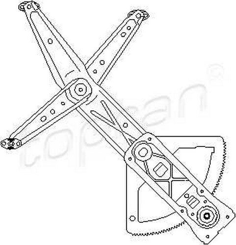 Manual Window Regulator LEFT FRONT Fits OPEL Combo Corsa