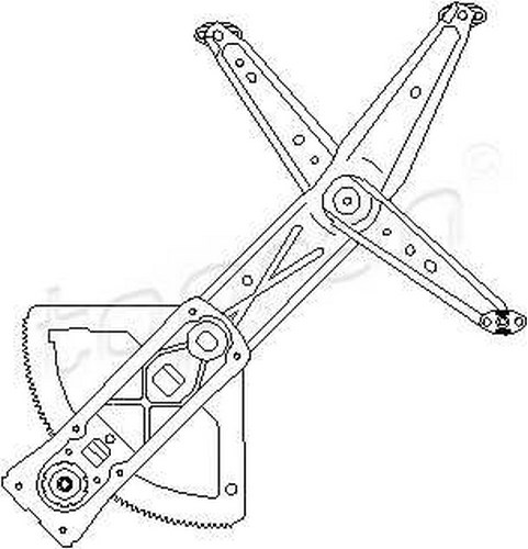 Manual Window Regulator RIGHT FRONT Fits OPEL Combo Corsa
