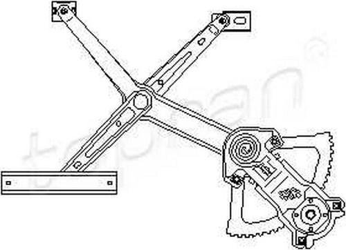 Manual Window Regulator LEFT FRONT Fits MERCEDES W124 S124