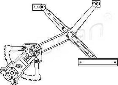 Manual Window Regulator RIGHT FRONT Fits MERCEDES W124