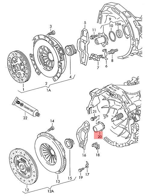 Genuine Guide Sleeve AUDI VW Audi 100 quattro 80 90 A4