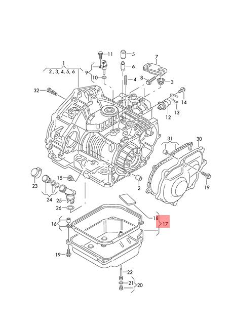 Genuine Transmission oil sump VW Beetle Golf R32 GTI