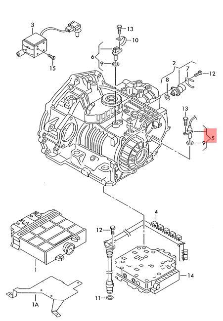 Genuine Gearbox Speed Sensor VW Beetle Cabrio Golf R32 GTI