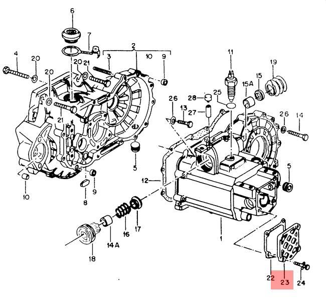 Genuine Cover 4-Speed Man. Gearbox VW Jetta Rabbit Golf