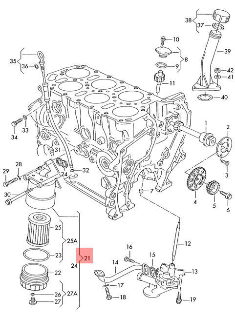 Genuine Oil Filter With Flange VW Corrado EuroVan Golf