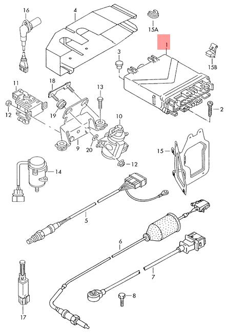 Genuine VW T4 ECU Control Unit ACU Manual w/ Immobilizer