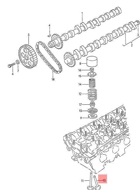 Genuine Volkswagen Inlet Valve NOS Audi 100 quattro 200 80