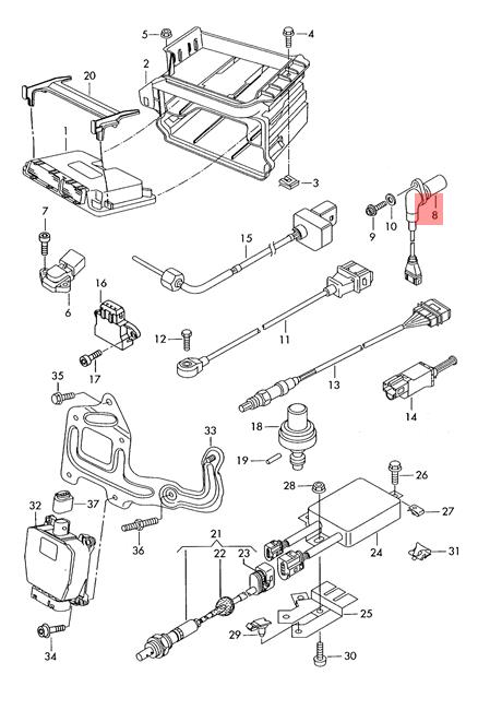 Genuine Crankshaft Pulse Sensor VW Beetle Golf R32 GTI