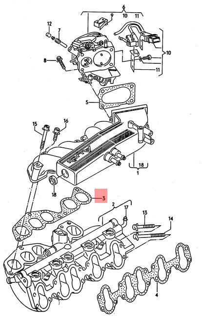 Genuine Seal AUDI Audi 100 quattro 80 90 A6 Avant Cabrio