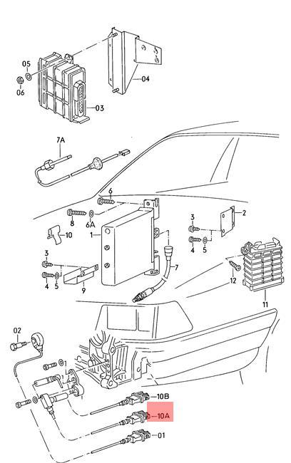 Genuine Crankshaft Position Sensor Grey AUDI 100 quattro