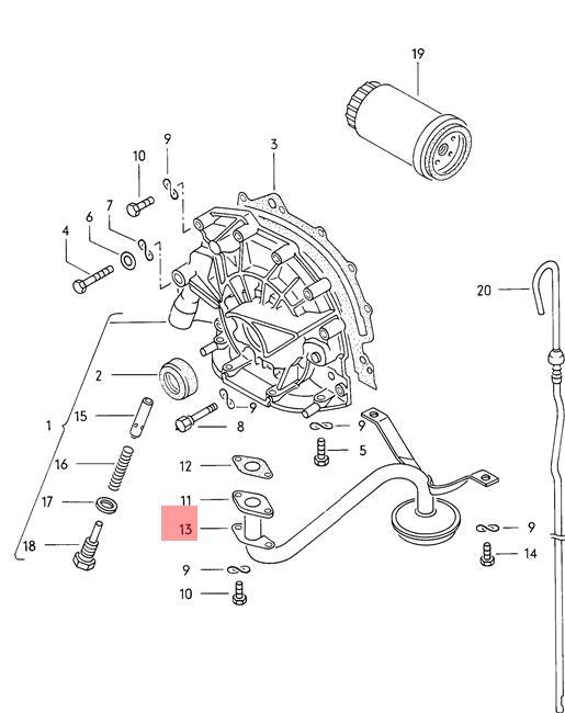 Genuine VW Retaining Plate NOS AUDI VW 100 Avant Quattro