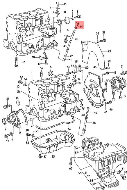 Genuine Guide VW AUDI Dasher Golf Jetta Passat Quantum
