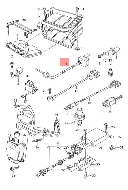 Genuine Exhaust Gas Temperature Sensor VW AUDI Golf R32