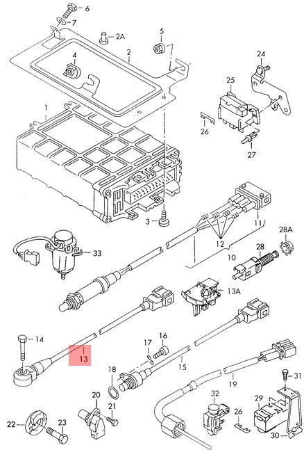 Genuine Knock Sensor With Wiring Harness VW Corrado