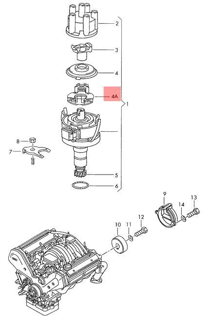 Genuine VW Hall Sensor NOS VW AUDI SEAT Eurovan Passat