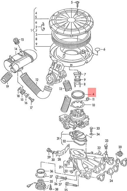 Genuine Volkswagen Seal NOS Audi 100 quattro 80 90 44 89