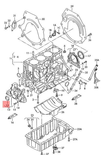 radial shaft Seal AUDI VW Audi 100 quattro 200 4000 5000